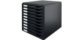 Schubladenbox schwarz/schwarz LEITZ 5294-00-95 10 Schubladen Produktbild
