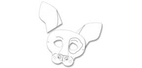 Kindermaske 6ST Hund FOLIA 23201 Produktbild