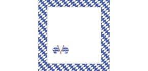 Tischkarte 10ST bayrisch Raute 044077B Produktbild