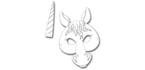 Kindermaske 6ST Pferd/ Einhorn FOLIA 23203 Produktbild