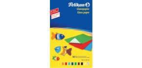 Glanzpapier 30x18cm gummiert PELIKAN P137935 232M10 Buntpapier Produktbild