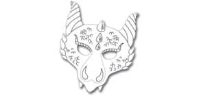 Kindermaske 6ST Drache FOLIA 23206 Produktbild