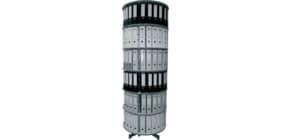 Ordnerdrehsäule 6 Etagen grau R2081B6 D81cm Produktbild