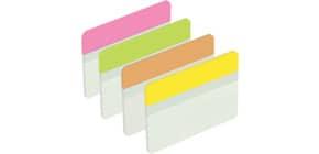 Index 50,8x38mm 4 Farben POST-IT 686-PLOY flach Produktbild