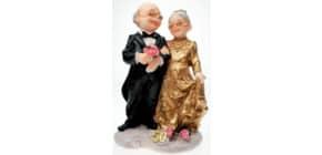 Deko Ehepaar gold 9562 16cm Produktbild