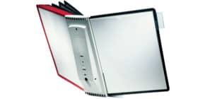 Sichttafel Wandhalter schwarz/rot DURABLE 5631 00 10 teilig mit Tafeln Produktbild