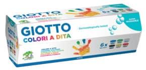 Fingerfarben 100ml 6Farben sortiert NERCHAU F534100 GIOTTO Produktbild