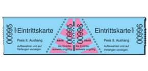 Eintrittskarten Rolle  blau SIGEL Er815 1-1000 Produktbild