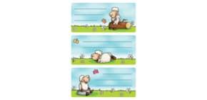 Buchschild Schafe HERMA 5592 Schulsticker Produktbild