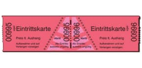 Eintrittskarten Rolle  rot SIGEL Er814 1-1000 Produktbild