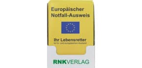 Europäischer Notfall-Ausweis RNK 2521 Display Produktbild