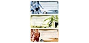 Buchschild Fußball HERMA 5598 Schulsticker Produktbild