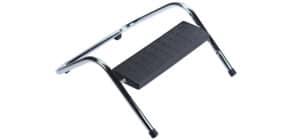 Fußstütze chrom/ schwarz Q-CONNECT KF16043 Produktbild