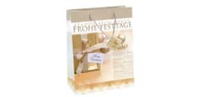 Weihn.Geschenktragetasche 26x33x12cm SIGEL GT016 Large Golden Shimmer Produktbild