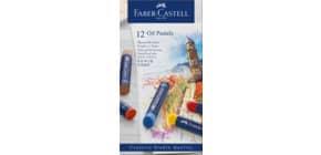 Ölpastellkreide 12 Stück sortiert FABER CASTELL 127012 Studio Produktbild