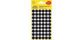 Etiketten D12mm 270 Stück schwarz ZWECKFORM 3140 Produktbild