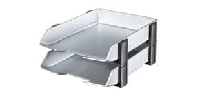 Briefkorb Set Exclusiv HAN 2742-77 2 Abl,Silber Wave Produktbild