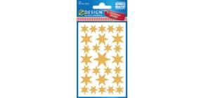 Weihn.Schmucketikett Sterne ZWECKFORM 52252 gold Produktbild