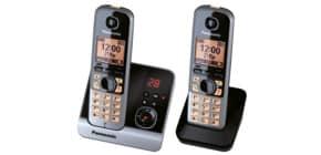 Telefon schnurlos schw/tit PANASONIC KX-TG6722GB 2Mobilte Produktbild