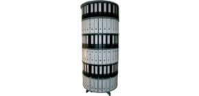 Ordnerdrehsäule 6 Etagen grau R2100B6 D100cm Produktbild