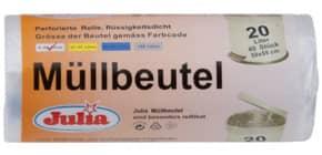 Müllsack 40 Stück 20l natur JULIA A52148 50x51+16cm Produktbild
