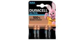 Batterie MN2400 LR03 Ultra AAA DURACELL DUR002692 4 Stück Produktbild