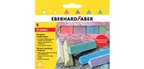 Straßenmalkreide 6ST sortiert EBERHARD FABER 526503 Produktbild
