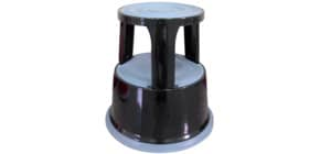 Rollhocker Metall schwarz Q-CONNECT KF04845 Produktbild