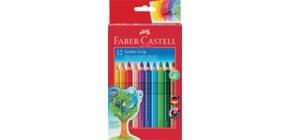 Farbstiftetui Jumbo Grip 12 Stück FABER CASTELL 110912 lang Produktbild