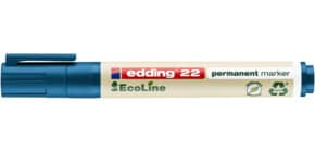 Permanentmarker 22 EcoLine 1-5mm blau EDDING 22003 Keilspitze nachfüllbar Produktbild