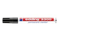 Permanentmarker schwarz EDDING 3300-001 1-5mm Produktbild
