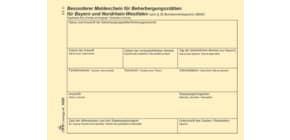 Fremdenmeldeblock A6 RNK 1650 Bayern/NRW Produktbild