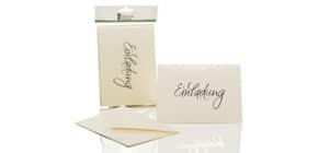 Briefkarte B6 HD 5/5 candle EINLADUNG 1181955303 Produktbild
