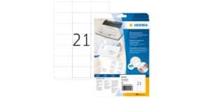 Adressetiketten 70x42mm 420 Stück HERMA 4441 A4 weiß Produktbild