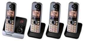 Telefon schnurlos schw/tit PANASONIC KX-TG6724GB 4Mobilte Produktbild