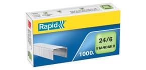 Heftklammern 24/6 verzinkt RAPID 24855600 1000St Produktbild