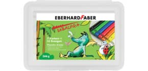 Knete Plastilin Tabaluga 2x7Farben EBERHARD FABER 572014 Produktbild