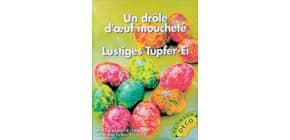Ostereierfarbe Tupfer-Ei 4012 6Farben sort. Produktbild