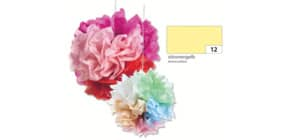 Blumenseide 50x70cm zitr.gelb FOLIA 91012 20g 5Bg Produktbild