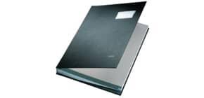 Unterschriftsmappe 20 Fächer schwarz LEITZ 57000095 Plastik kaschiert Produktbild