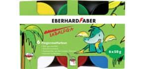 Fingerfarbe 50ml Tabaluga 6ST EBERHARD FABER 578605 Produktbild