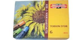 Pastellkreide 6Farb. KOH-I-NOOR 8511 Toison d'Or Produktbild