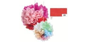 Blumenseide 50x70cm rot FOLIA 91020 20g 5Bg Produktbild