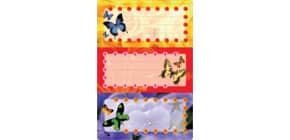 Buchschild Schmetterlinge HERMA 5574 beglimmert Produktbild