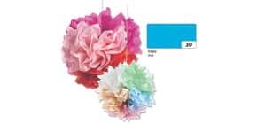 Blumenseide 50x70cm blau FOLIA 91030 20g 5Bg Produktbild