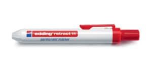 Permanentmarker Retract 1,5-3mm rot EDDING 11-002 Rundspitze nachfüllbar Produktbild