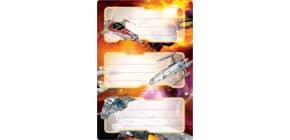 Buchschild Raumschiff HERMA 5589 beglimmert Produktbild