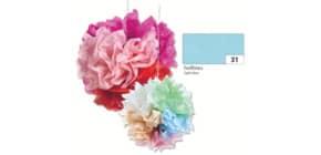 Blumenseide 50x70cm hellblau FOLIA 91031 20g 5Bg Produktbild