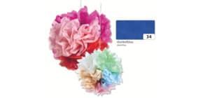 Blumenseide 50x70cm dunkelblau FOLIA 91034 20g 5Bg Produktbild