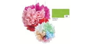 Blumenseide 50x70cm hellgrün FOLIA 91051 20g 5Bg Produktbild